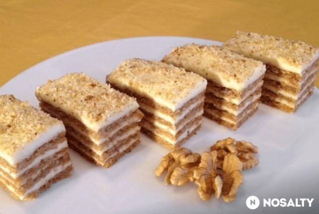 Nejlepší ořechové řezy bez gramu mouky s výbornou chutí recept