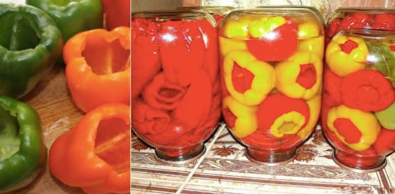 Zavařované papriky na zimu snadným způsobem recept