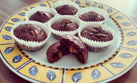 Proteinové muffiny plnené arašidovým maslom podľa Mišky Masárovej