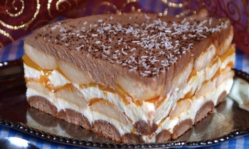 Jemný nepečený broskvový dort recept