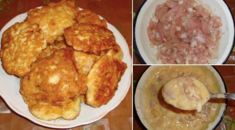 Lahodné a křupavé kuřecí placky recept