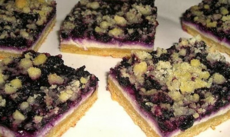 Borůvkový koláč s tvarohovou náplní za pár minut hotový recept