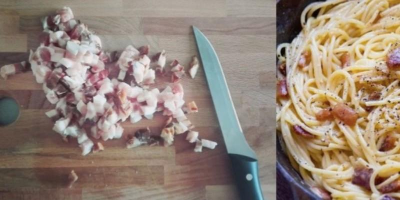 Špagety Carbonara pravý Italský recept