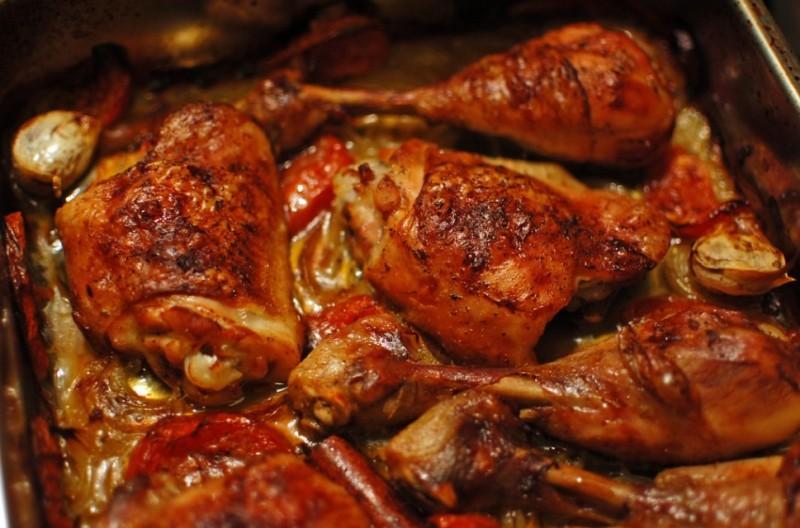 Kuře zapečené na plechu se slaninou maximálně šťavnaté recept