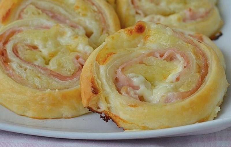 Vynikající bramboroví šneci se šunkou a sýrem recept