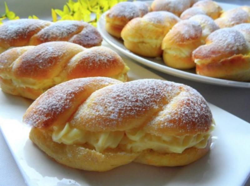 Najlepší nadýchané koláčky s pudingovou náplní tzv. pudingáče recept