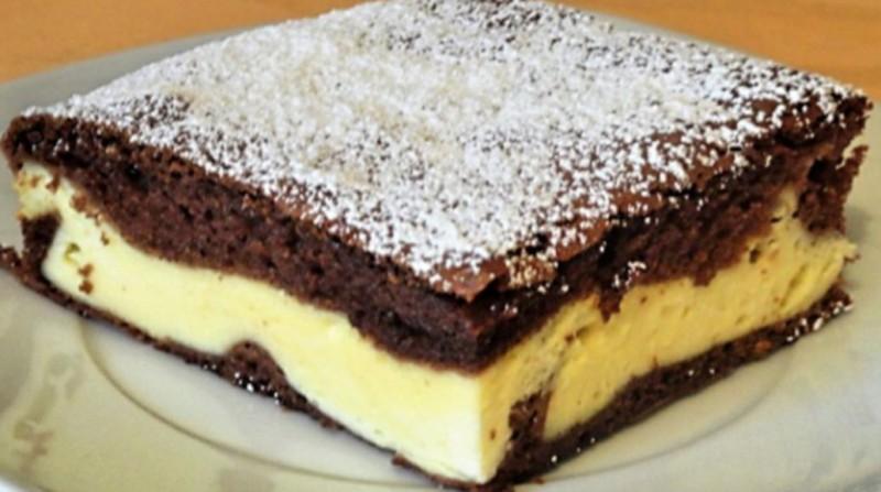Dvojbarevný tvarohový dort s čokoládou a zakysanou smetanou recept