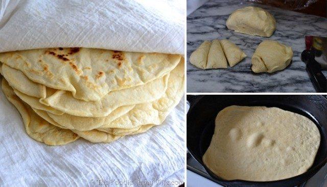 Vláčné domácí tortilly