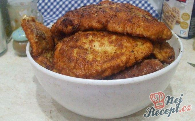 Obrácené řízky s bramborovou kaší