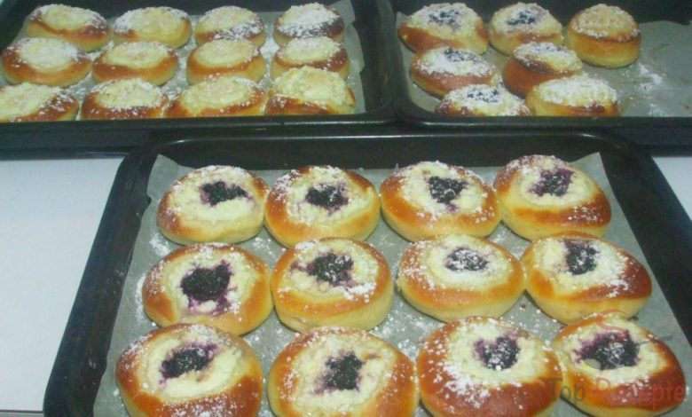 Moravské tvarohové koláče s borůvkami