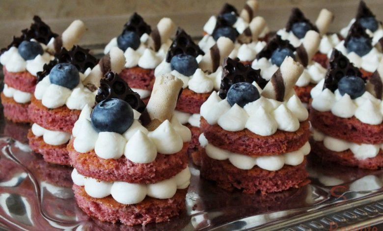 Mini dortíčky Red velvet
