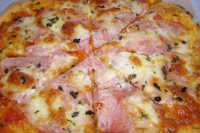 Rychlá pizza z bílého jogurtu