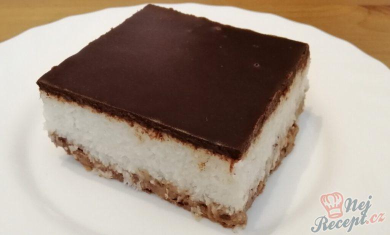 Úžasný nepečený bounty koláč připraven za 10 minut