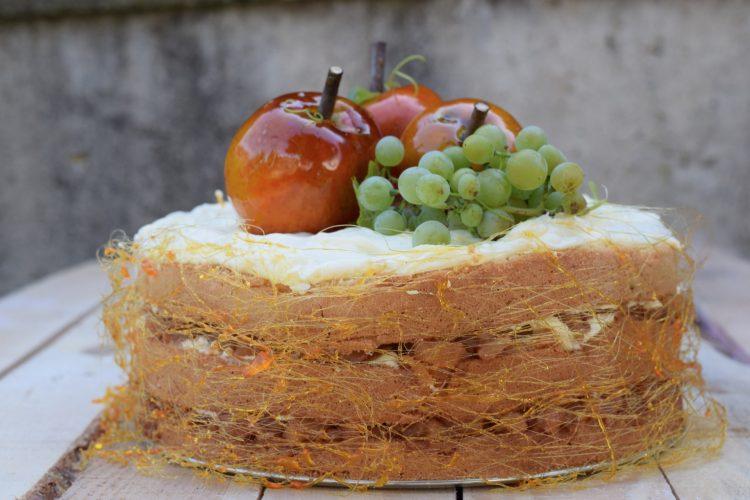 Podzimní dort s hruškovo-jablečným rozvarem