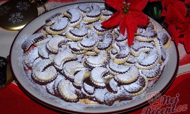 Vanilkovo kakaové vykrajované rohlíčky