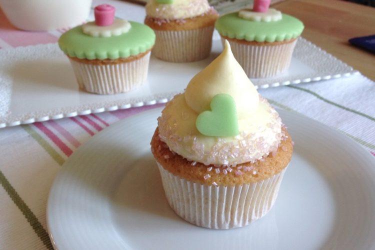Mandlové cupcakes s vanilkovým krémem