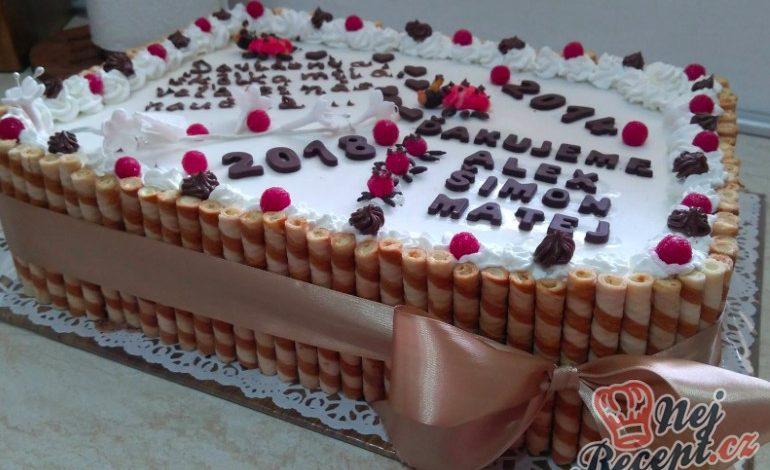 Čokoládový dort se šlehačkou