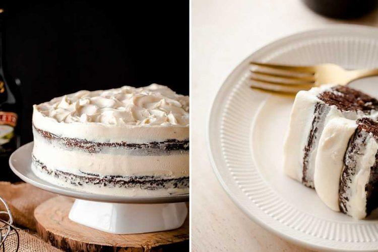 Luxusní dort z černého piva s Bailey's krémem