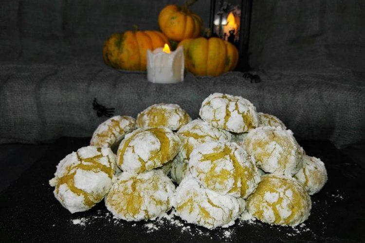 Popraskané dýňové sušenky