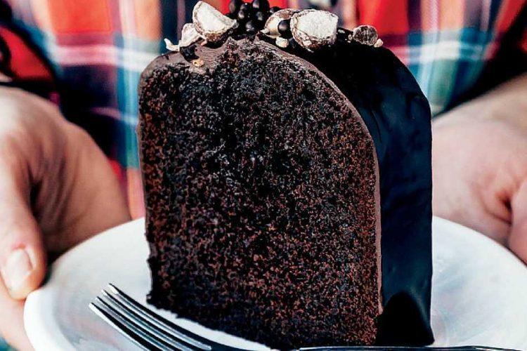 Extra čokoládový dort s kávou a podmáslím
