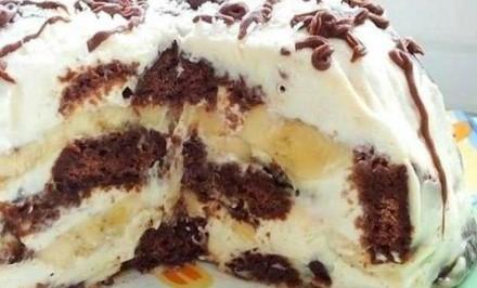 Čokoládovo-banánová nepečená torta