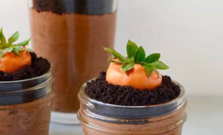 Čokoládová pena s jahodami na spôsob Mrkva