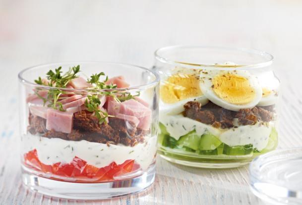 Netradičný raňajkový Sendvič v pohári