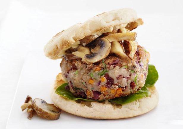 Skvelý vegánsky burger s hubami