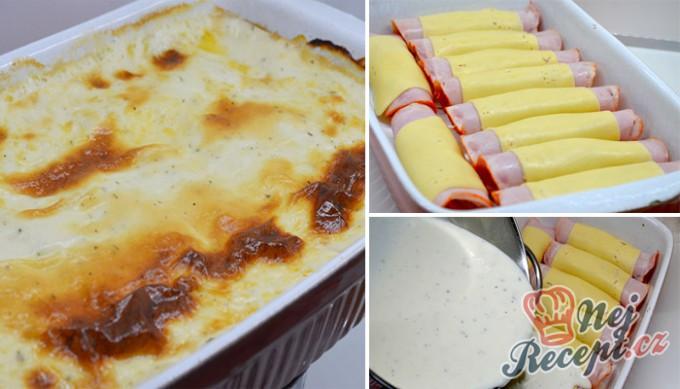 Kuřecí rolky se šunkou a sýrem