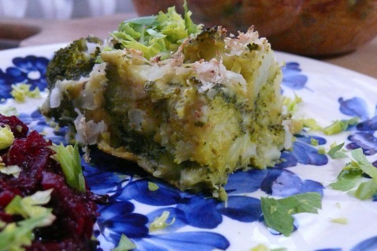 Veganská brokolice zapečená v palačinkovém těstě