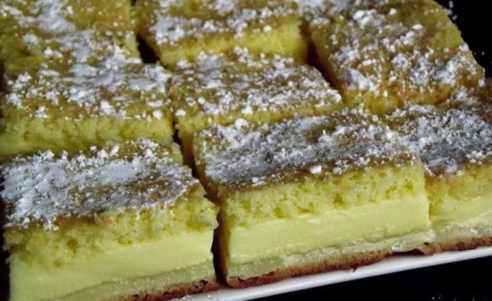Báječný koláč – do rúry stačí vložiť jedno cesto a vyberiete dezert s tromi vrstvami!