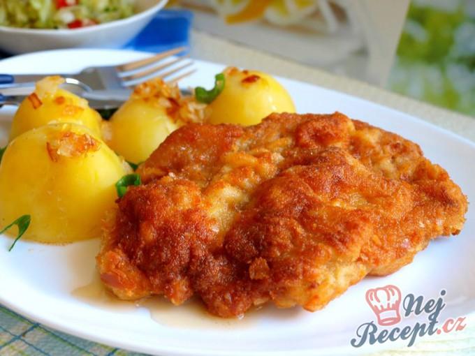 Smažená krkovice s bramborem