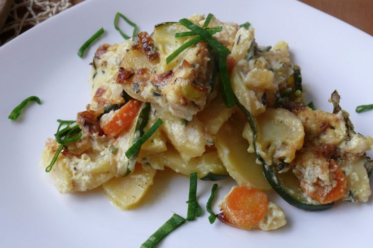 Zapékané brambory se zeleninou