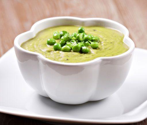 Rýchla syrová polievka s hráškom