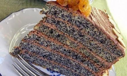 Maková torta bez váženia