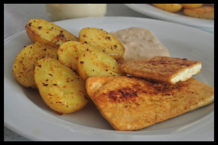Tofu přírodní plátek s pečeným bramborem