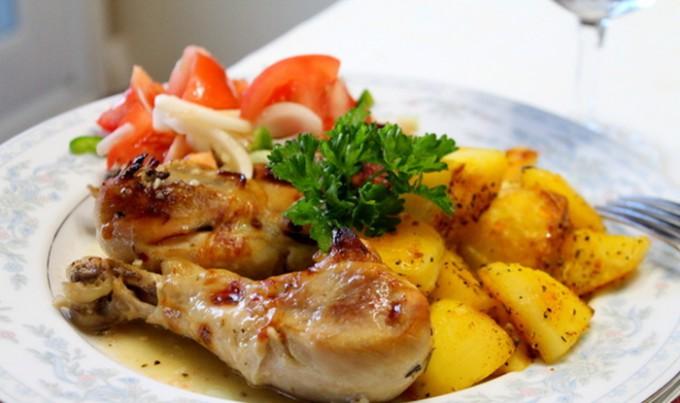 Pečené kuře v řeckém stylu