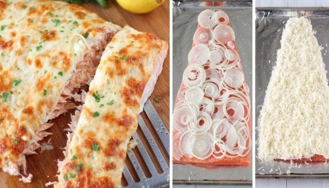 Pečený losos se sýrovou krustou
