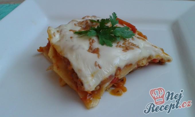 Lasagne s mrkví a lněnými semínky
