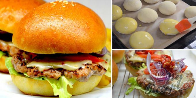Domácí hamburgery (nejlepší hamburgerové housky)