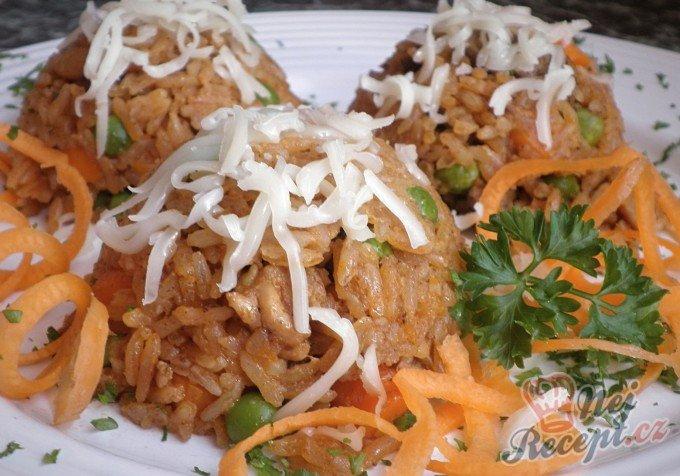 Kuřecí rizoto se zeleninou a restovanými játry