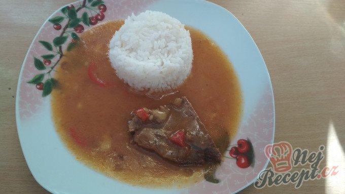 Cikánská pečeně s rýží