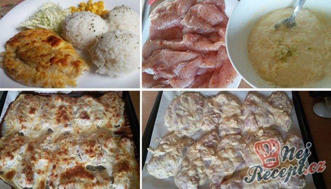 Pečená kuřecí prsa v sýrovém těstíčku