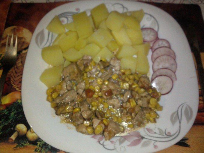 Kuřecí prsa v kukuřici