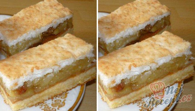 Nejlepší jablečný koláč s kokosovou pěnou, který se rozplývá na jazyku