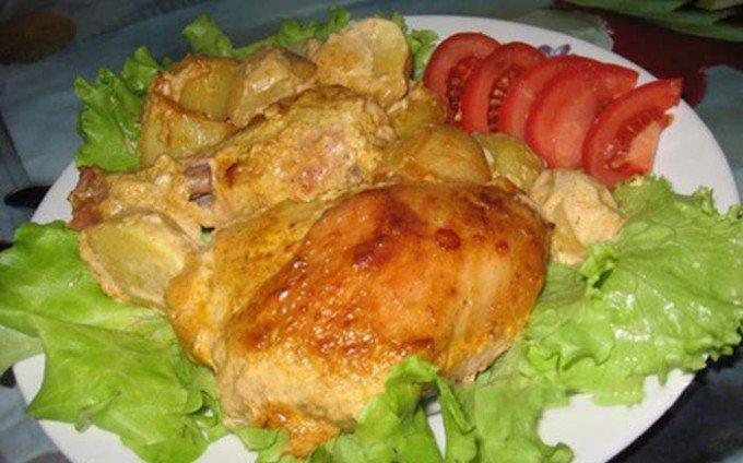 Marinované kuřecí kousky zapečené v troubě