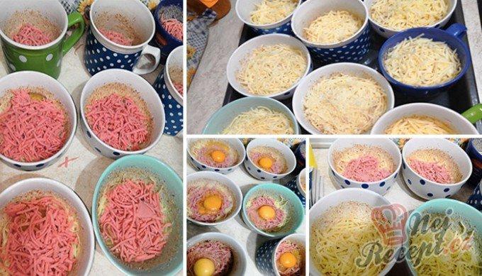 Sýr se šunkou a vajíčkem bez smažení