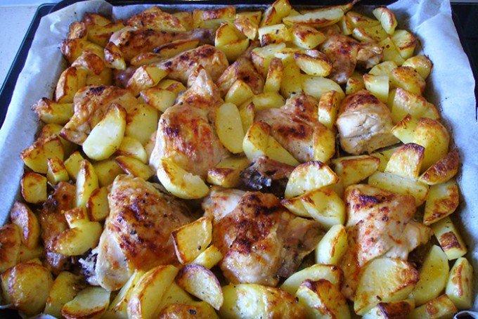 Pečené kuře s bramborem 2v1