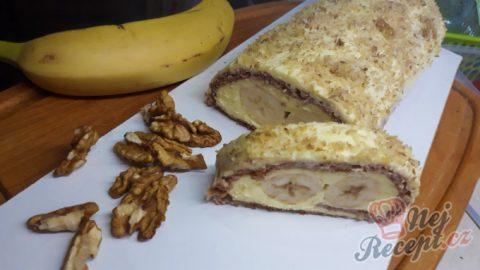 Fantastická roláda Banana split bez gramu mouky