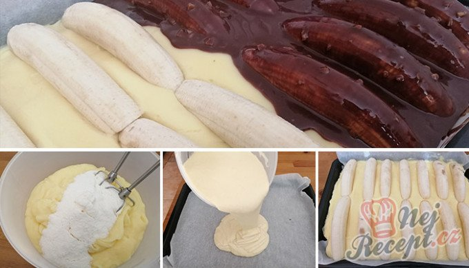 Úžasné hrnkové řezy Banana Split